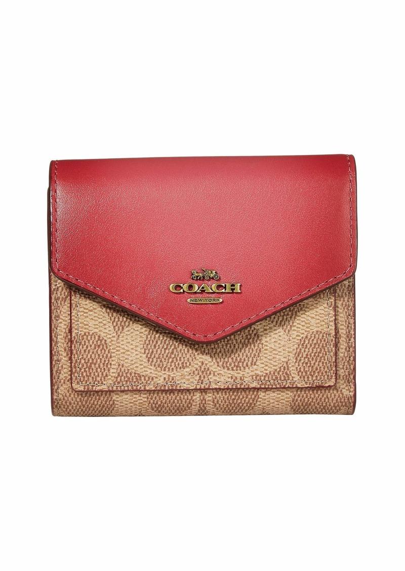 Coach Color-Block Signature Small Wallet