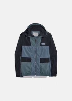 Coach colorblock windbreaker in recycled polyester