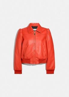 Coach leather blouson jacket