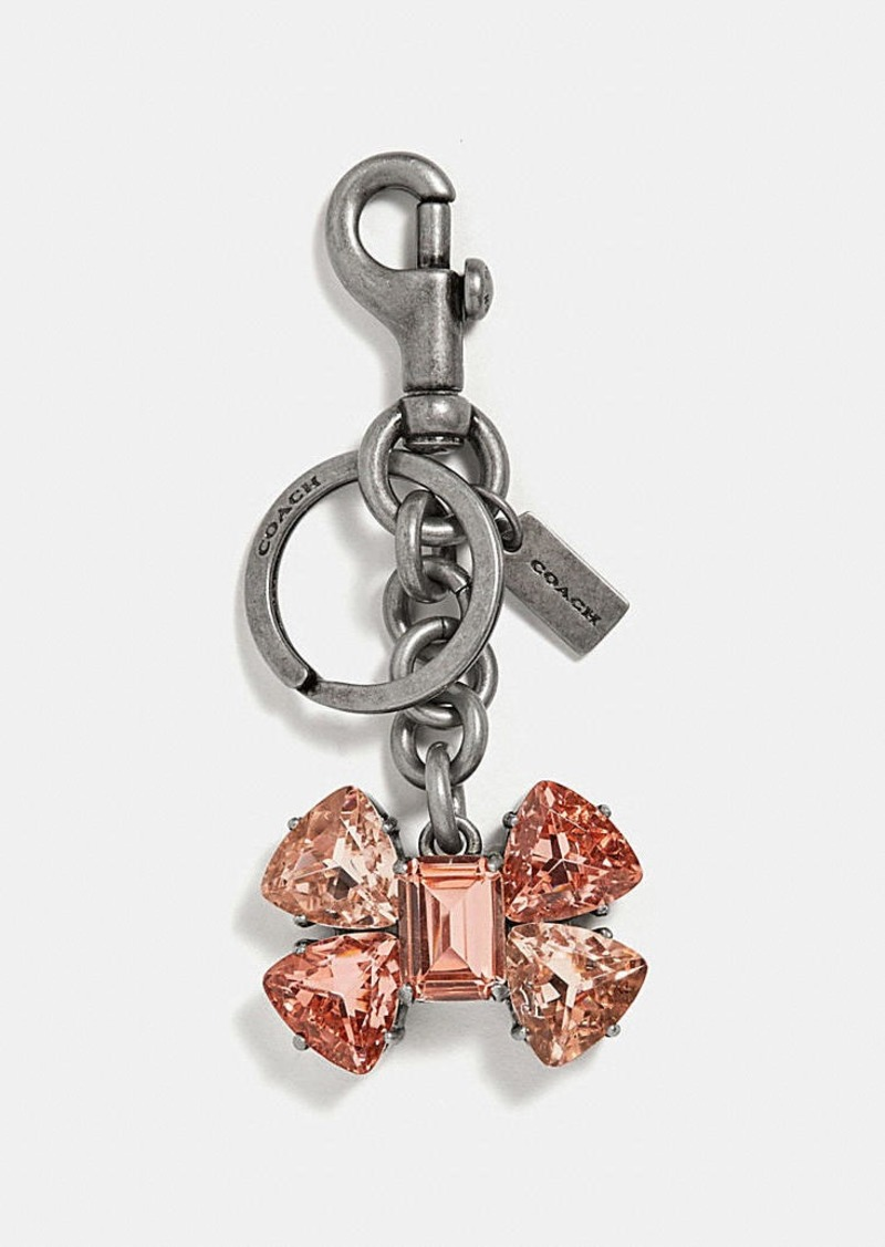 Coach crystal bow bag charm