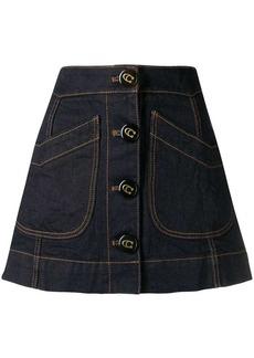 Coach denim A-line skirt