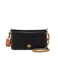 Coach Dinky Exotic Detail Border Rivets Crossbody Bag