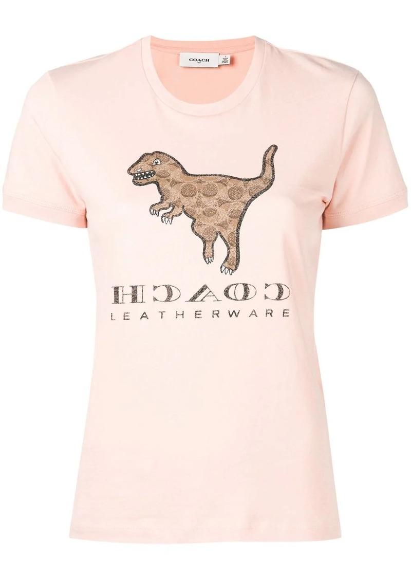 Coach dinosaur print T-shirt