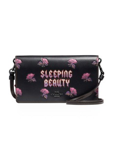 DISNEY X COACH  Sleeping Beauty Fold-Over Crossbody Clutch Bag