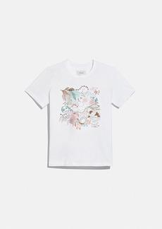 Coach doodle dream t-shirt in organic cotton