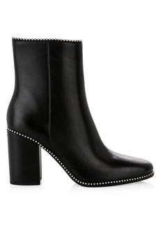 Coach Drea Ball-Trim Leather Ankle Boots