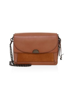 Coach Dreamer Mixed Leather & Suede Shoulder Bag