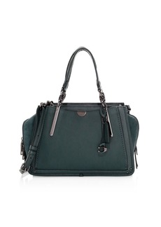 Coach Dreamer Mixed Leather Top Handle Bag