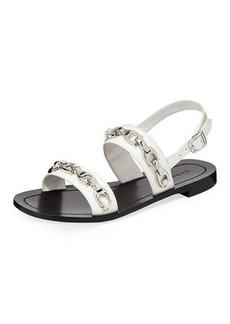 Coach Eden Flat Logo-Chain Slingback Sandals