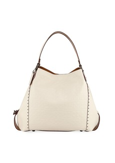 Coach Edie 42 Signature Leather Hobo Bag