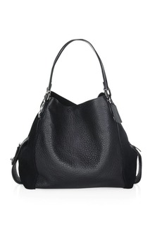 Coach Edie 42 Mixed Leather Shoulder Bag