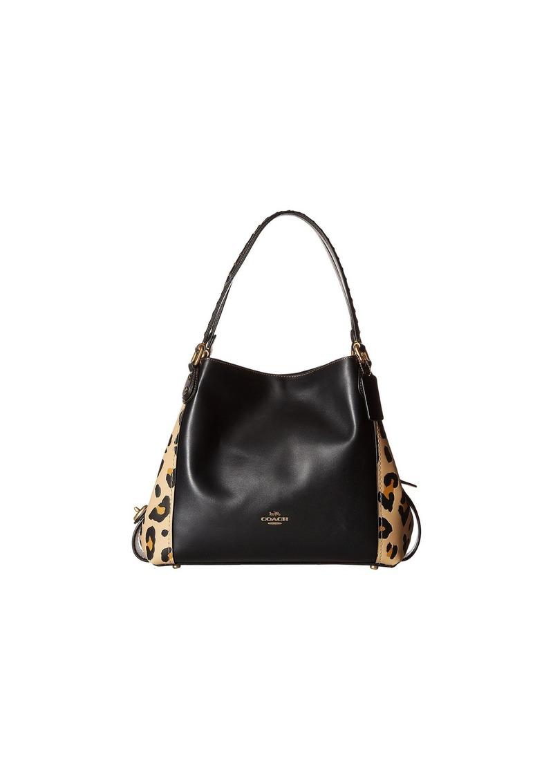 90364ceb16 Coach Edie Shoulder Bag 31 With Blocked Leopard Print | Handbags