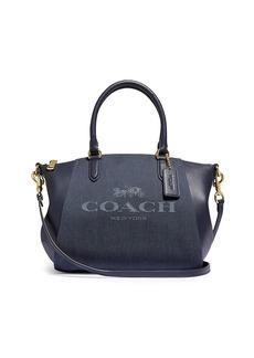Coach Elise Leather & Jacquard Satchel