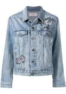 Coach embroidered denim jacket