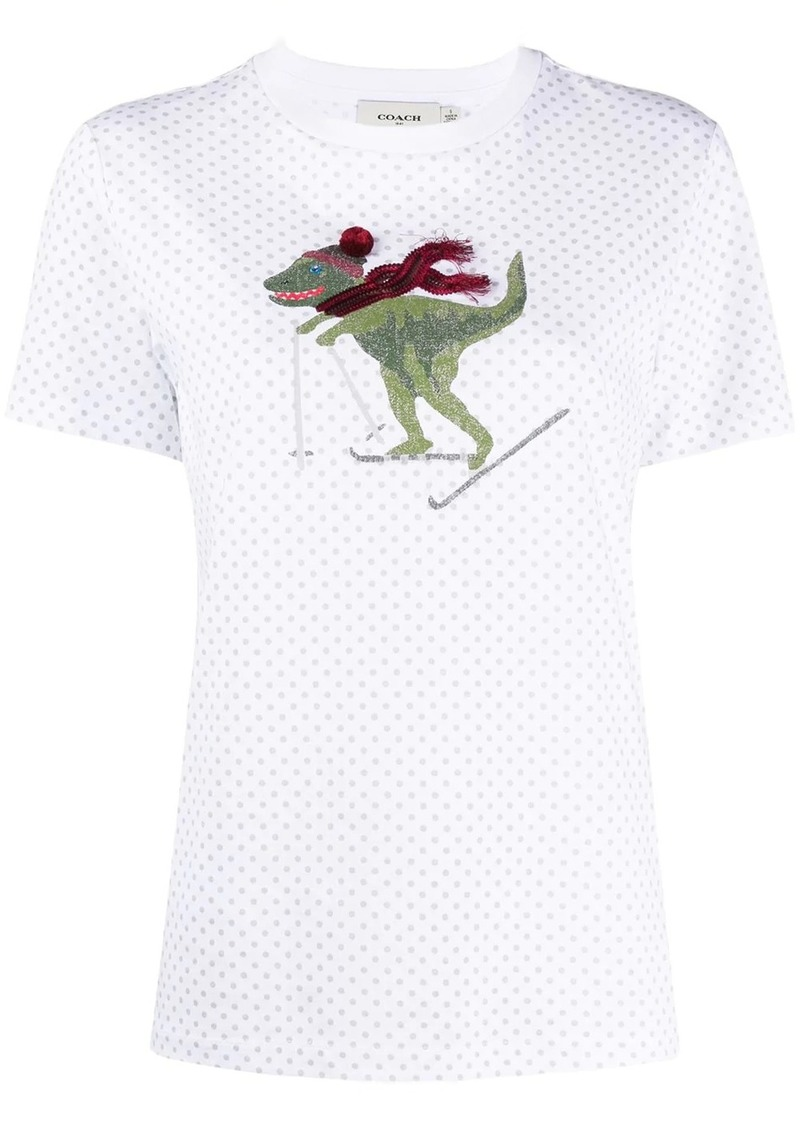 Coach embroidered detail T-shirt