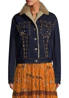 Coach 1941 Shearling-Trimmed Denim Jacket
