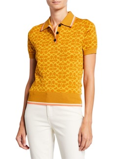 Coach Fitted Signature C Polo Shirt