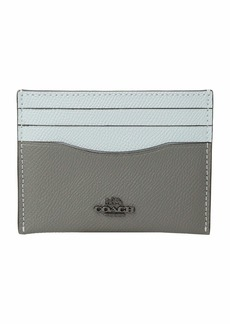 Coach Flat Card Case in Color Block Leather