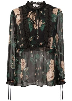 Coach floral embroidered blouse