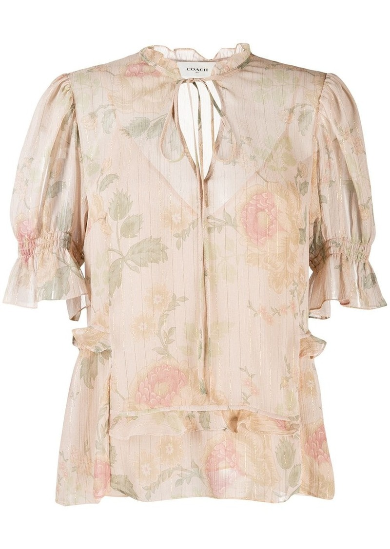 Coach floral print blouse