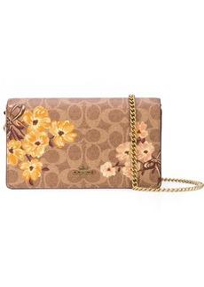 Coach floral print chain shoulder bag