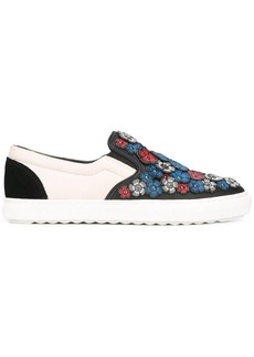 Coach flower embellished slip-on sneakers