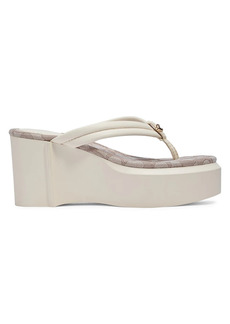Coach Franki Leather Platform Thong Sandals