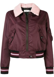 Coach front zipped bomber jacket