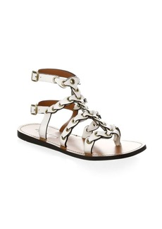 Coach Gladiator Chain Link Leather Sandals