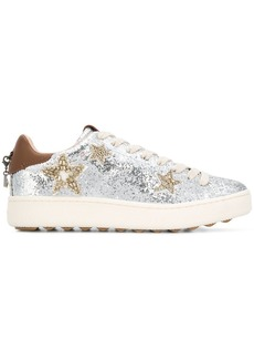 Coach glitter lace-up sneakers