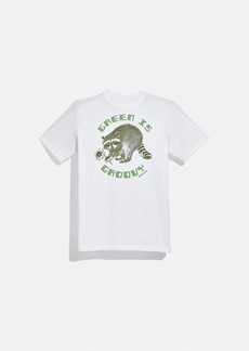 Coach green is groovy t-shirt in organic cotton