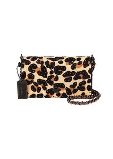 Coach Haircalf Leopard Dinky Crossbody Bag