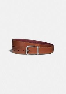 Coach harness buckle reversible belt, 25mm