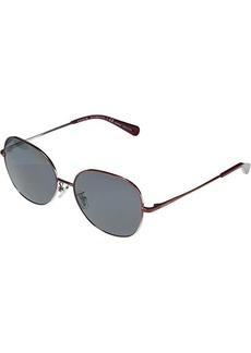Coach HC7108 L1111 Round Metal Sunglasses