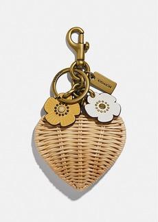 Coach heart bag charm
