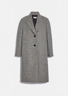 Coach herringbone oversized coat