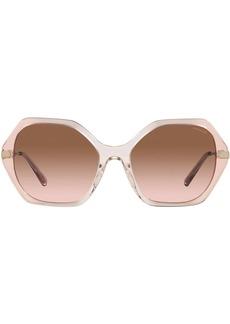 Coach hexagon-shaped frame sunglasses