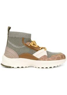 Coach high top sock sneakers
