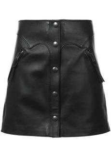 Coach high-waist leather skirt