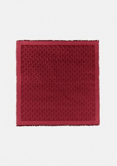 Coach horse and carriage jacquard oversized square scarf