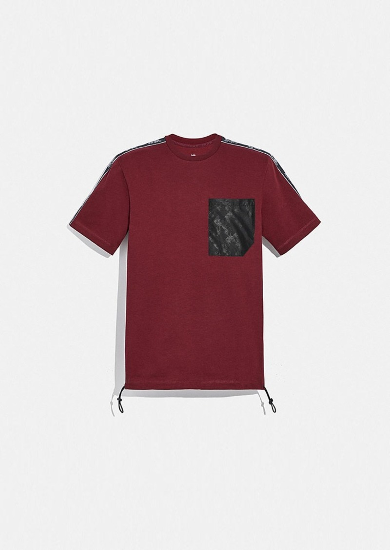 Coach horse and carriage pocket t-shirt