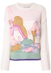 Coach intarsia sweater