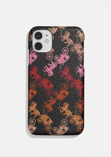 Coach iphone 11 case with horse and carriage print