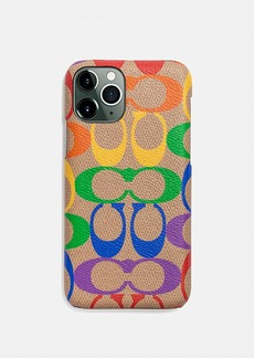 Coach iphone 11 pro case in rainbow signature canvas