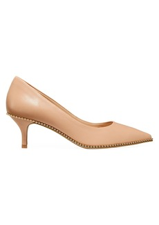 Coach Jackie Bead-Trim Leather Pumps