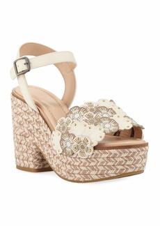d01480999 Coach Jae Linked Tea Rose Platform Sandals
