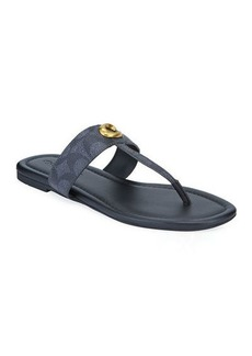 Coach Jessi Signature Flat Thong Sandals