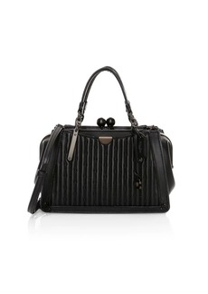 Coach Kisslock Dreamer Rivets Quilted Leather Satchel