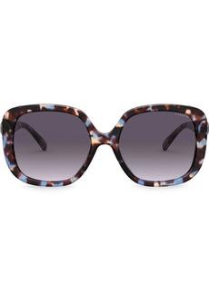 Coach marble effect sunglasses