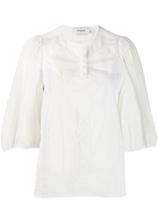 Coach lace trim blouse